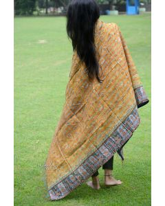 Deer Ride kantha Scarf