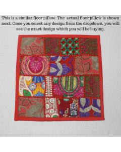 Red Vintage Collage Cushion Cover -16 inch x 16 inch