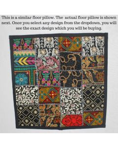 Black Vintage Collage Cushion Cover -22 inch x 22 inch