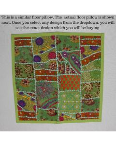 Light Green Collage Cushion Cover -22 inch x 22 inch