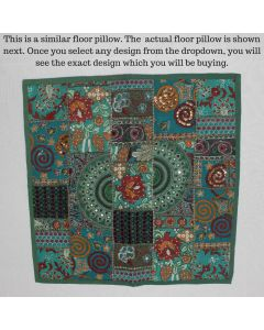 Green Collage Cushion Cover -22 inch x 22 inch