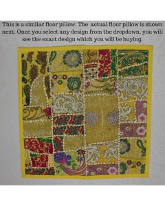 Yellow Collage Cushion Cover -22 inch x 22 inch