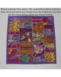 Purple Collage Cushion Cover -22 inch x 22 inch