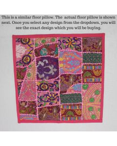 Pink Collage Cushion Cover -22 inch x 22 inch