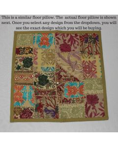 Beige Collage Cushion Cover -22 inch x 22 inch
