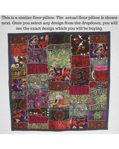 Black Collage Cushion Cover -24 inch x 24 inch