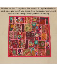 Pink Collage Cushion Cover -24 inch x 24 inch