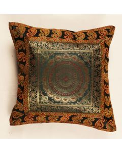 16 16 inch MANDALA  JACQUARD ROYAL Pillow