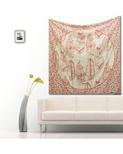 Palm Red Large Tapestry
