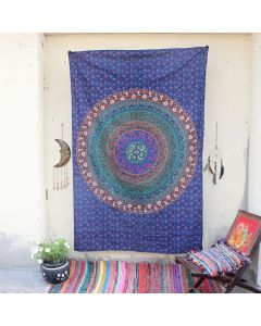 Mandala Wall Hanging Tapestry Boho Trippy Beach Throw Home decor