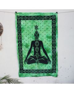 Black Chakra Meditating Buddha Hippie Wall Poster 30 in x 40 in