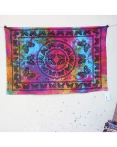 Pink Dance Butterfly Mandala Tapestry Wall Hanging Poster 30 in x 40 in