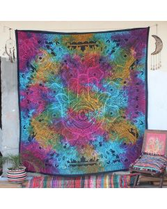 Turquoise sesha Hamsa Hand Boho Wall Hanging Tapestry Queen Size