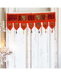 Orange Vintage Collage Door Hanging