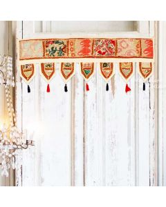 White Vintage Collage Door Hanging