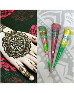 Natural Herbal Henna Cone - Pack of 3