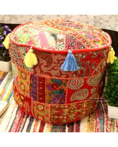 POUF OTTOMAN RED LARGE