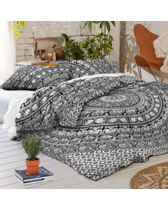 Trippy Twin Duvet Cover and Pillow Set