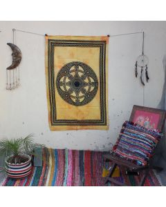 Yellow Celtic Mandala Hippie Wall Poster 30 in x 40 in