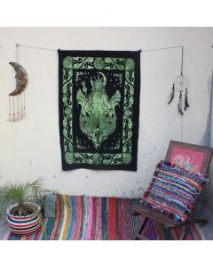 Green goddess Mermaid Indian Wall Poster 30 in x 40 in