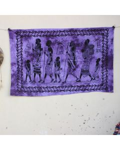 Purple Tribal Walking Wall Hanging Poster 30 in x 40 in