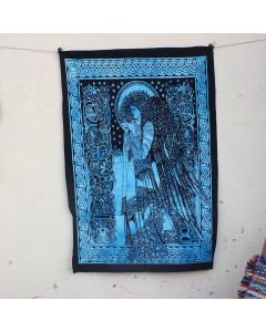 Turquoise Celtic Princess Cotton Wall Hanging Poster 30 in x 40 in