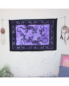 Purple Playing Lizards Indian Wall Poster 30 in x 40 in