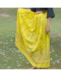 Yellow Sequin skirt