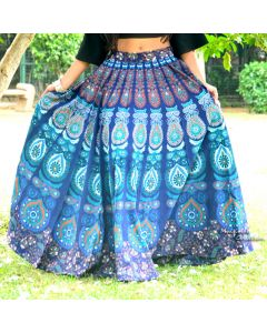 Ocean Indian Mandala Skirt