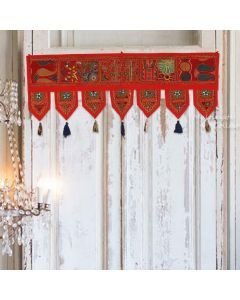 Red Vintage Collage Door Hanging