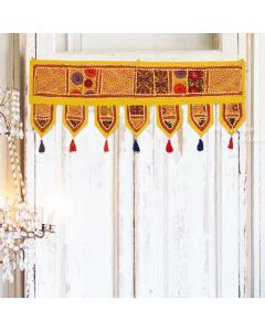 Yellow Vintage Collage Door Hanging