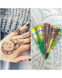 Natural Herbal Henna Cone - Pack of 5