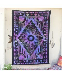 Sun Moon Wall Hanging Tapestry Boho Ethnic Table Cloth Psychedelic decor