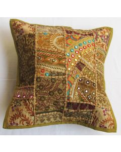 Beige Vintage Collage Cushion Cover 16 inch x 16 inch