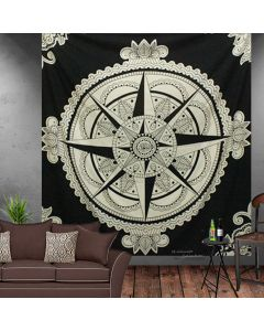 Black and White Star Large tapestry