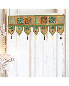 Dark Green Vintage Collage Door Hanging