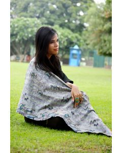Village art kantha scarf