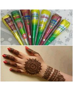 Natural Herbal Henna Cone - Pack of 7
