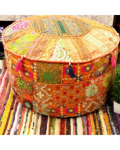 Orange Vinatge Collage Ottoman Ethnic cushions