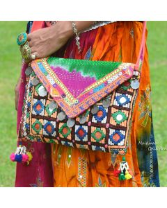 Tie Dye Cross body Banjara Kantha Bag