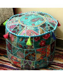 Turquoise Pouf Cover