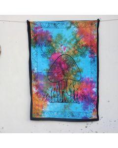 Turquoise Rasta Mushroom Boho Wall Hanging Poster 30 in x 40 in