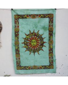 Green Worshipped Sun Wall Hanging Poster 30 in x 40 in