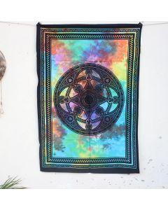 Black Celtic Mandala Boho Wall Hanging Poster 30 in x 40 in