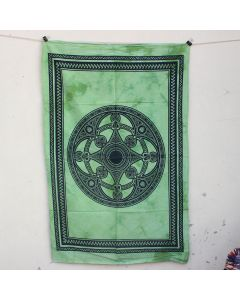 Green Celtic Mandala Wall Hanging Poster 30 in x 40 in