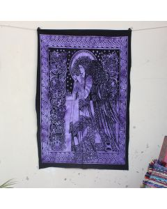 Purple Celtic Princess Tapestry Wall Hanging Poster 30 in x 40 in
