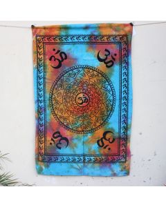 Turquoise Truth Aum Mandala Indian Wall Poster 30 in x 40 in