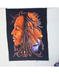 Orange Lion head Bob Marley Hippie Wall Poster 30 in x 40 in