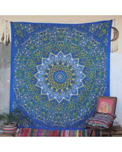 Blue Star Elephant Indian Wall Tapestry Queen Size