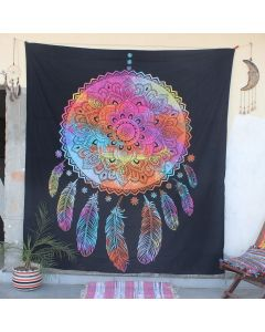 Black Good dreams dreamcatcher Boho Wall Hanging Tapestry Queen Size